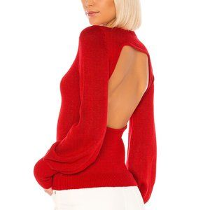 REVOLVE LPA RED Backless Area Sweater